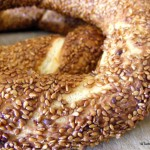 Turkish food simit sesame